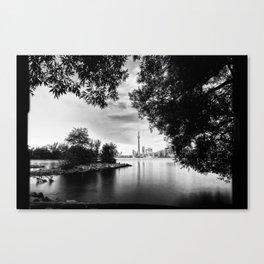 Toronto Black and White Canvas Print