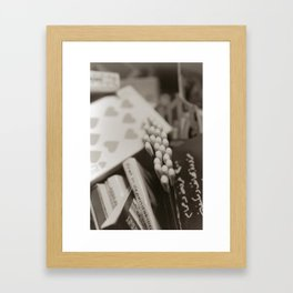 match books Framed Art Print