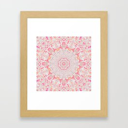 BOHO SUMMER JOURNEY MANDALA - PASTEL ROSE PINK Framed Art Print