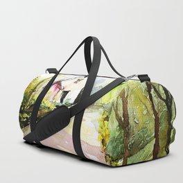 Beautiful Cottage Garden Painting Duffle Bag