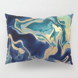 DRAMAQUEEN - GOLD INDIGO MARBLE Pillow Sham