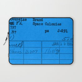 Library Card 797 Blue Laptop Sleeve