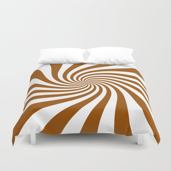 Swirl (Brown/White) Duvet Cover