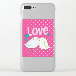 Sweet little love birds Clear iPhone Case