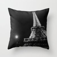 eiffel Throw Pillows featuring Eiffel by Envibe Photography