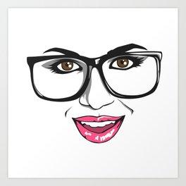 Smart chick Art Print