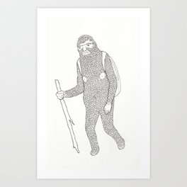Hitch Hiking Art Print