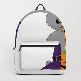 Holiday Hippo Halloween Witch Hippo Backpack
