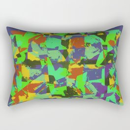 Vibrant Camo Rectangular Pillow