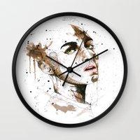 jasmine Wall Clocks featuring Jasmine by Maurice Zombie