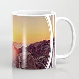 Peel Sunset  - line/circle graphic Coffee Mug