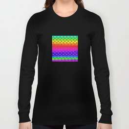 Rainbow and pink flowers Long Sleeve T-shirt