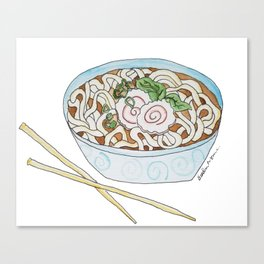 U is for Udon Soup Canvas Print