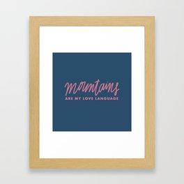Mountains Love Lang / 1 Framed Art Print