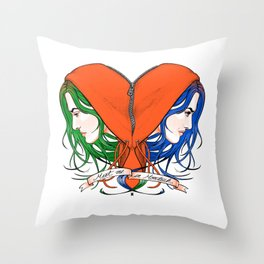 Clementine's Heart Throw Pillow