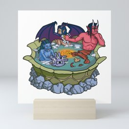The Party That Bathes Together Stays Together Mini Art Print