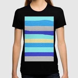 Ocean Blue Painter's Stripes T-shirt