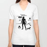 dragon age V-neck T-shirts featuring Dragon Age - Fenris by firlachiel