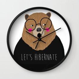 whistleburg - Let's Hibernate Wall Clock