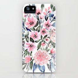 "Loose watercolor floral bouquet, ""Clara"" iPhone Case"