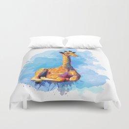 Baby Giraffe Duvet Cover