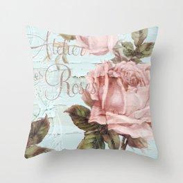 Atelier d'Roses Throw Pillow