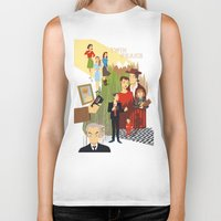 twin peaks Biker Tanks featuring Twin Peaks by Collectif PinUp!