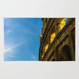 Sunset Hitting The Roman Colosseum Rug