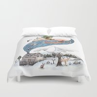 camus Duvet Covers featuring Invincible Summer by Brooke Weeber