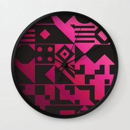 Digital Inkblot Wall Clock