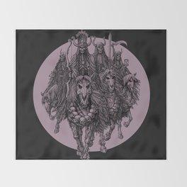 """The four horsemen of the apocalipse"" Throw Blanket"