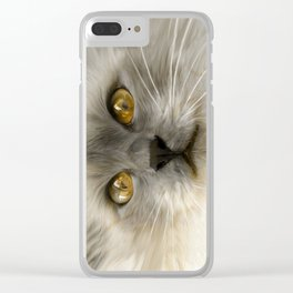 """""""Cute Kitty (Love cats)"""" Clear iPhone Case"""