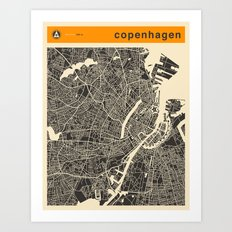 COPENHAGEN MAP Art Print