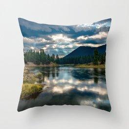 Snake River Revival - Morning Along Snake River in Grand Tetons Throw Pillow