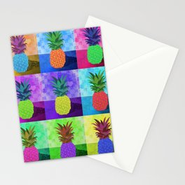 multi-colored pineapples Stationery Cards