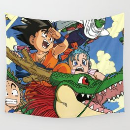 Kids and the Dragon Wall Tapestry