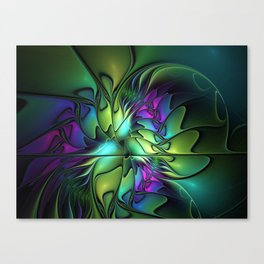 Colorful And Abstract Fractal Fantasy Canvas Print