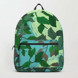 Looking Up Into The Leaves Backpack