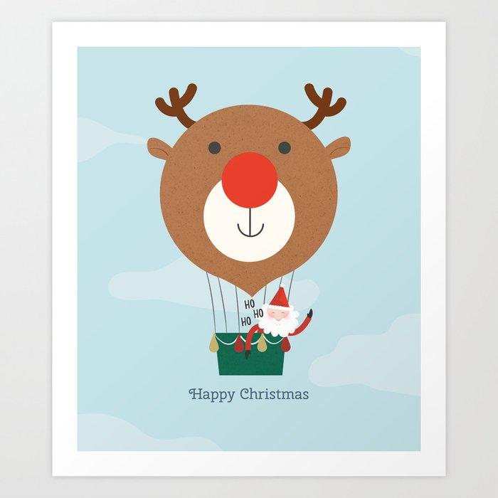 Air Rudolph Art Print