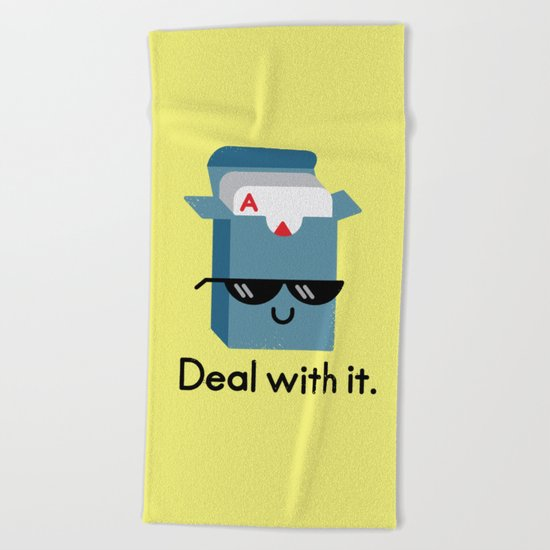Talk to the Hand Beach Towel