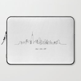 New York City Skyline Drawing Laptop Sleeve