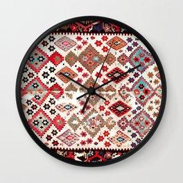 Gaziantep  Antique Turkish Tribal Kilim Wall Clock