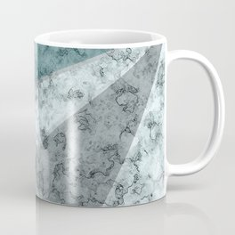 Combined abstract pattern .Green marble . Coffee Mug
