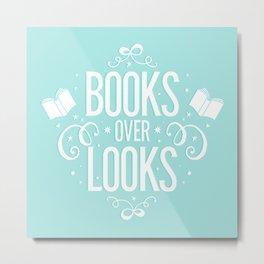 Books over looks Metal Print