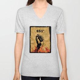 Fahrenheit 451 - Ray Bradbury Unisex V-Neck