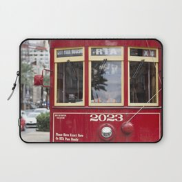 New Orleans 2023 Canal Streetcar Laptop Sleeve
