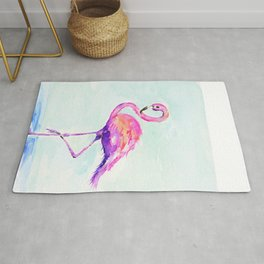 Flamingo Love Rug