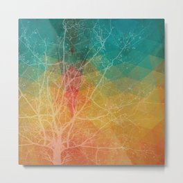 Tree with the knowledge of good & delightful white Metal Print