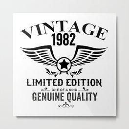 Vintage birthday Metal Print