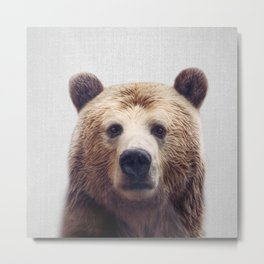Bear - Colorful Metal Print